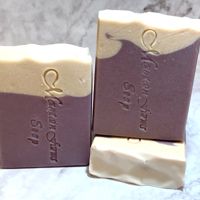 Lavender Oatmeal and Honey Goat's Milk Soap by Mountian Farms Soap