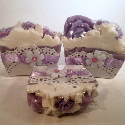 Lavender-Mini-Soap-Cake-Slice by Mountain Farms Soap