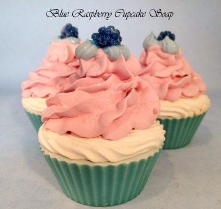 Blue Raspberry Cupcake Soap