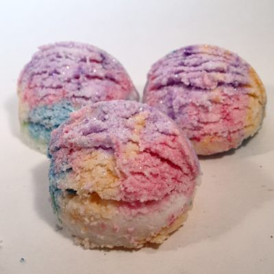 Rainbow-Bubbling-Bath-Truffle by Mountain Farms Soap