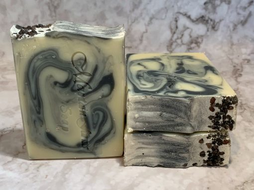 Black Salt and Cypress Soap by Mountain Farms Soap
